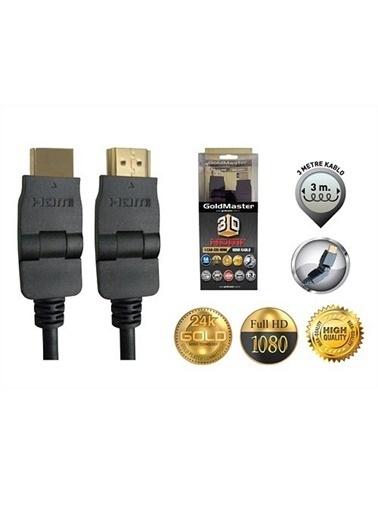 Goldmaster master 3 Metre Hdmı Kablosu 180 Derece Cab-335 Renkli